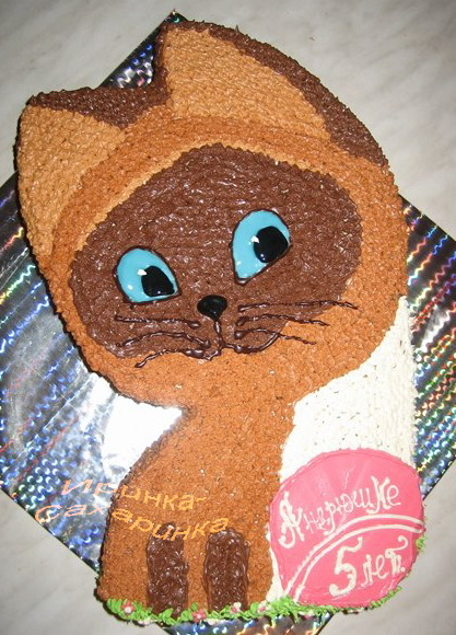 Торт котенок рецепт фото